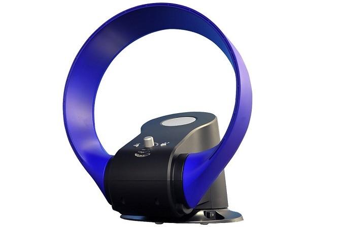 ブルーカラーのlife_mart 羽根なし サーキュレーター 扇風機