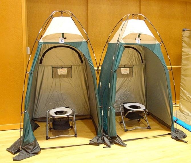 避難所で使用するプライベートテントL