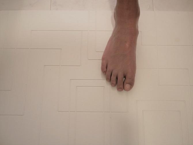 風呂上がりの長男の足