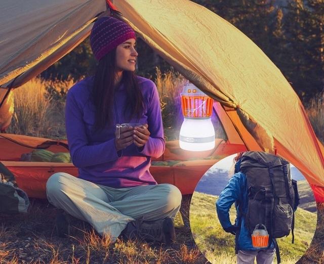 キャンプで使用HailiCare 電撃殺虫器 捕虫器 蚊取り器 UV光源吸引式 屋外&室内