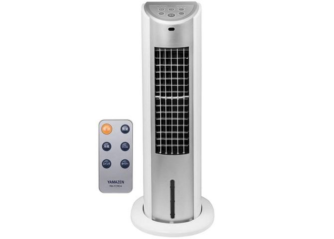 リモコン付きの山善 冷風扇 FCR-G401(WS)