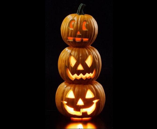 かぼちゃが3つ重なる3連タンタン