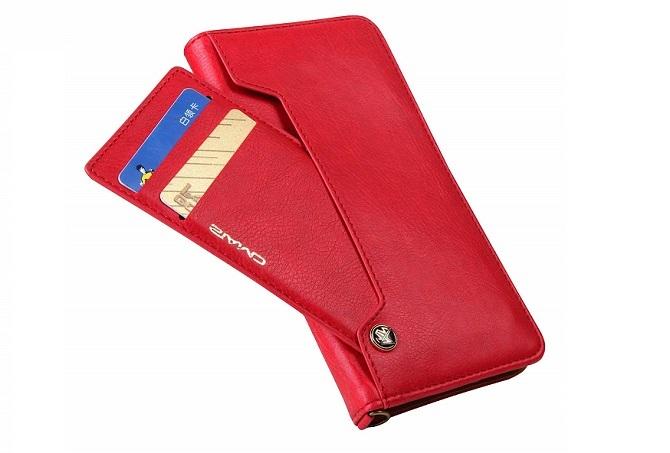 赤色のEouine手帳型ケース