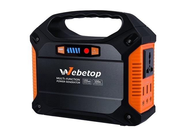 Webetop ポータブル電源の外観