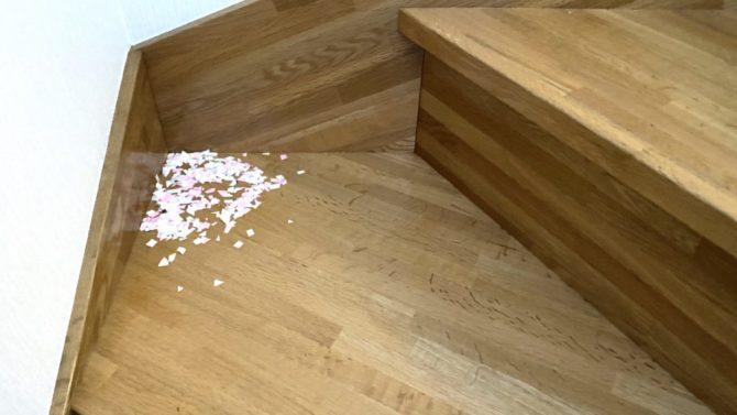 階段に折り紙